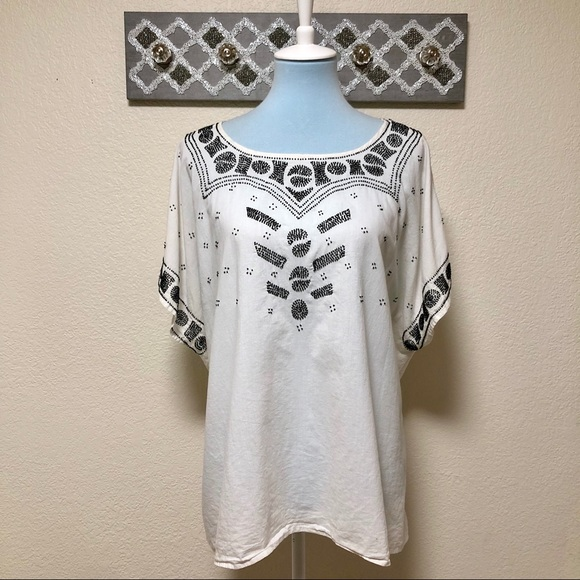 THE GREAT. Tops - The Great Beaded Willow Tunic, Size 3 (L 12/14)